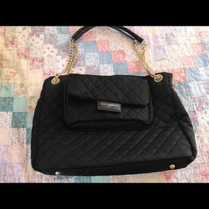 Karl Lagerfeld Black bag gold accents .